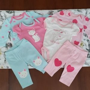 6 Piece The Children's Place Outfits 0-3 Months